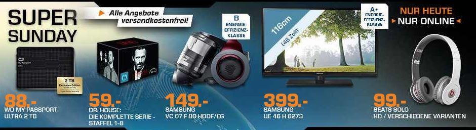SAMSUNG VC07F   Beutelloser Staubsauger statt 299€ für 149€ und mehr Saturn Super Sunday Angebote