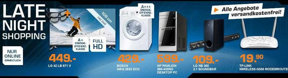 HP Pavilion Desktop PC 500 430ng für 599€ – und mehr Saturn Late Night Angebote