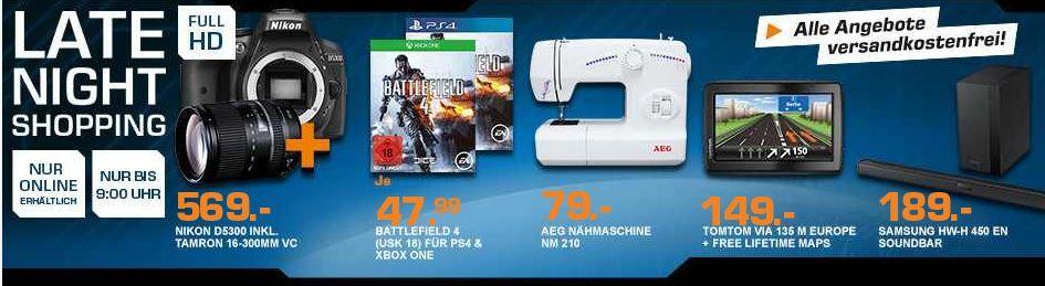 Saturn late night1 Battlefield 4 für XBox One oder PlayStation 4 für je 24,99€ – und mehr Saturn Late Night Angebote