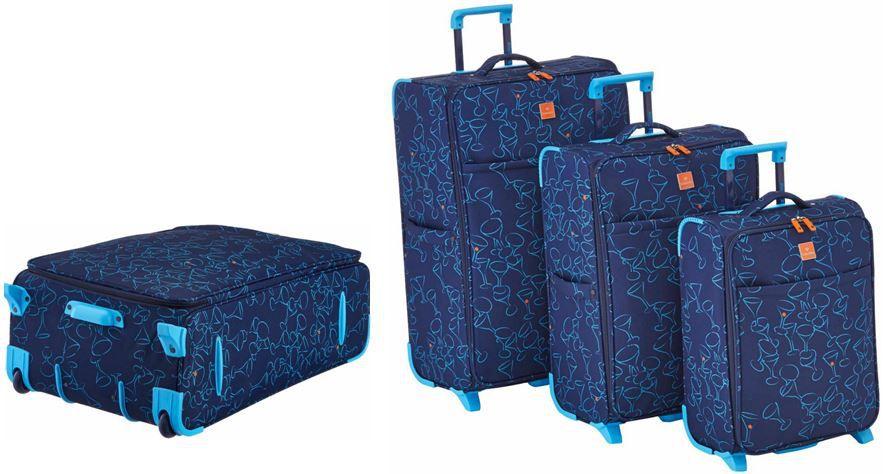 Saxoline Koffer Set Saxoline Cocktail   3er Set Koffer in Blau für 53,96€ inkl. Versand
