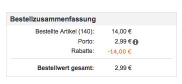 Snapfish Warenkorb 140 Premium Fotoabzüge (10x15) für 2,99€ bei Snapfish