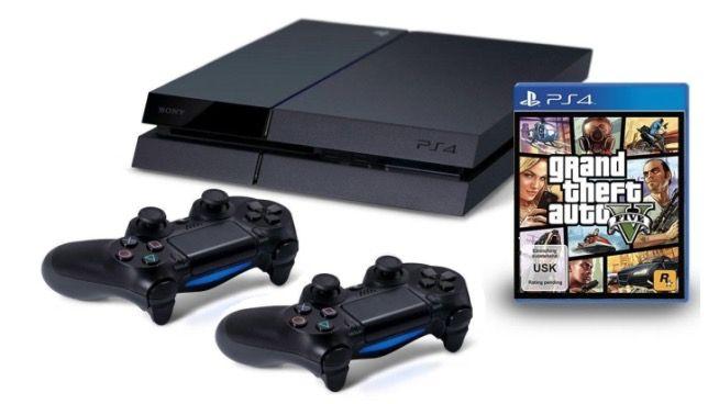 Sony Playstation 4 + GTA 5 + 2. Controller für 399€