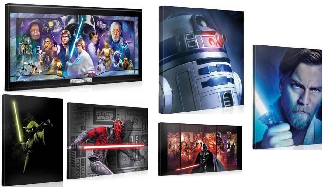 Original Star Wars Impressionen auf bedruckten Leinwänden mit Keilrahmen ab 15,90€   Update