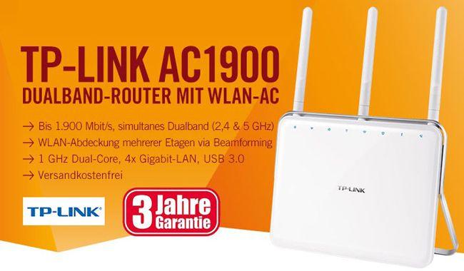 TP LINK Archer C9 AC1900 TP LINK Archer C9 AC1900 WLAN Dualband Gigabit Router für 119€
