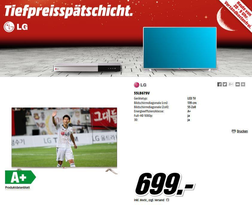 LG   TVs, Soundbar und Bluray Player ab 109€ bei der MediaMarkt Tiefpreisspätschicht Aktion