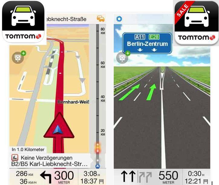 TomTom Navi App für iOS und Android ab 42,99€