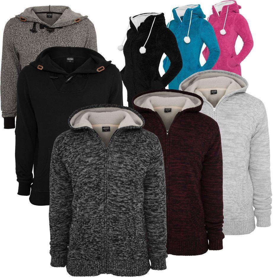 Urban Classics   Damen & Herren Winter Zip & Hoodies mit Teddy Fell für je 29,90€