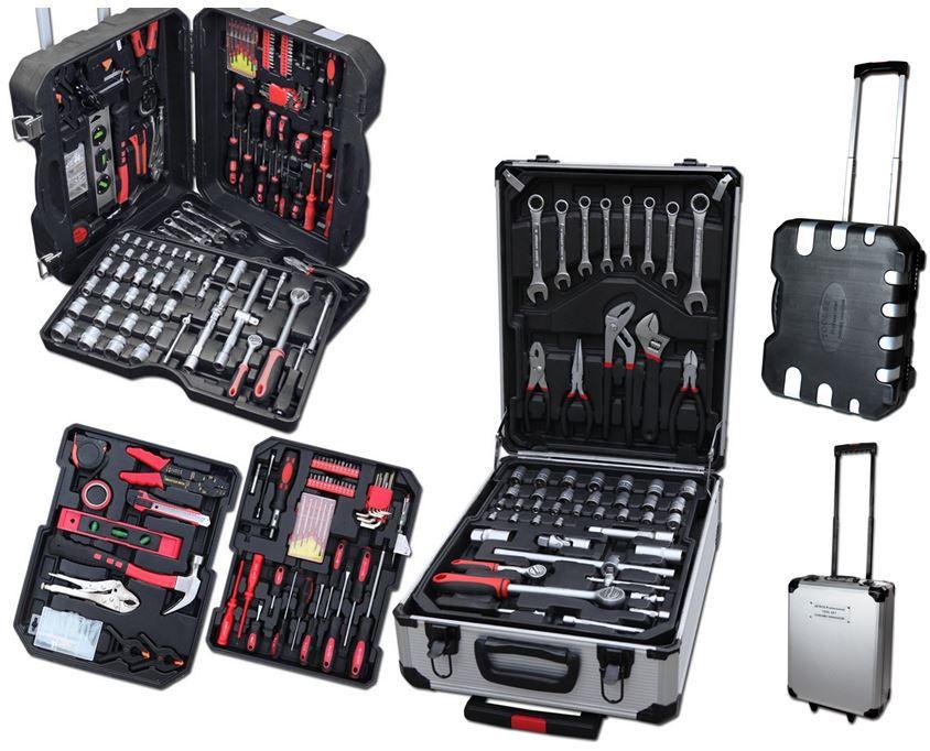 Werkzeug Werkzeugkoffer mit 207 Chrom Vanadium TLG mit Trolleyfunktion für 59,95€