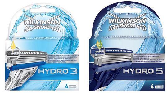 Wilkinson Hydro Rasierklingen Wilkinson Sword Hydro 3 im 4er Pack für 3,99€   Hydro 5 im 4er Pack für 4,95€