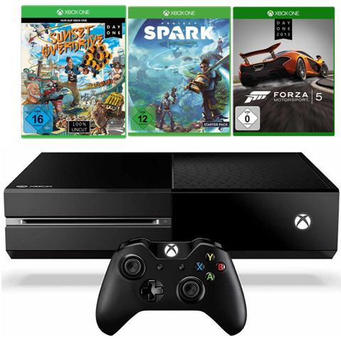 XBoxone Xbox One Konsole + Games: Sunset Overdrive + Project Spark + Forza Motorsport 5 für 399€