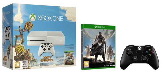 Xbox One White + Sunset Overdrive + Destiny + 2. Controller für 399,33€