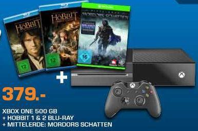 Xbox Xbox One 500GB + 3 Games + Der Hobbit 1+2 ab 413,99€    Update!