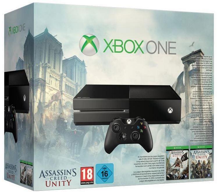 Xbox One Bundle mit Assassins Creed IV + Assassins Creed Unity für 299€ Update