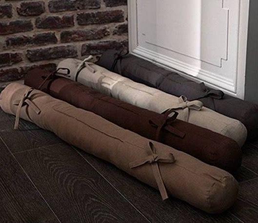 Beautissu Zugluftstopper 10x90cm aus Baumwolle für 8,99€