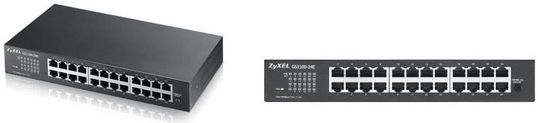 Zyxel ZyXEL GS1100 24E   Gigabit Ethernet Switch mit 24Ports für 52,89€