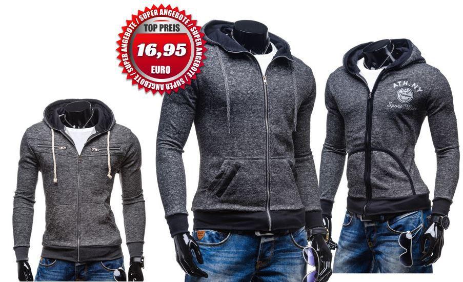 BOLF Herren Sweatshirts und Hoodies für je 16,95€   Update!