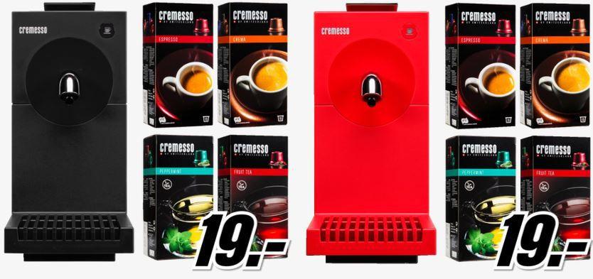 cremesso Cremesso Uno   Kapsel Maschine + 4 Packungen Kapseln für je 19€   Update!