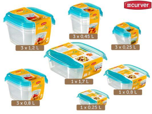 Curver Set Frischhaltedosen Fresh & Go für 20,90€   wieder da!