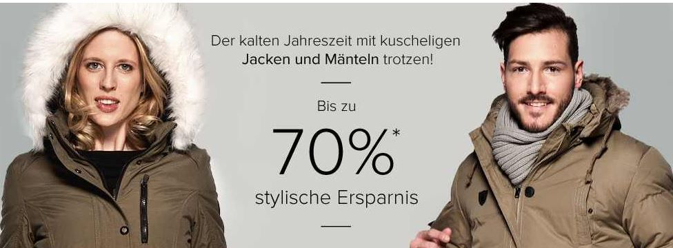 dress for less   Top Aktion   Jacken mit bis zu 70% Rabatt + 10% Gutschein + VSK frei