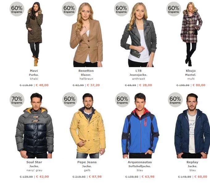 dress for less   Top Aktion   Jacken mit bis zu 70% Rabatt + 10% Gutschein + VSK frei