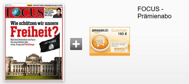 focus abo Focus Jahresabo statt 202,80€ für nur effektiv 42,80€