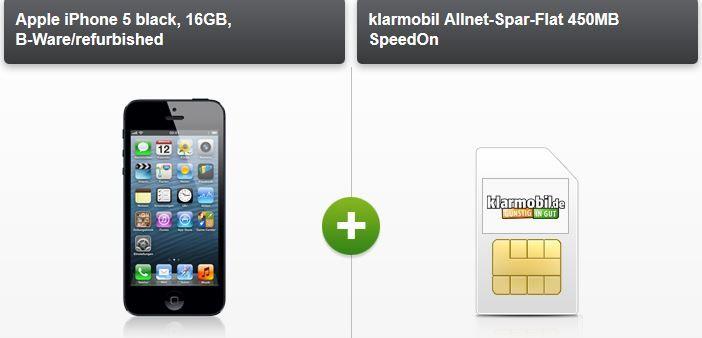 Telekom Allnet Flat + 450MB Daten für 14,85€   mit iPhone 5 (refurb.) für 24,85€ monatl.