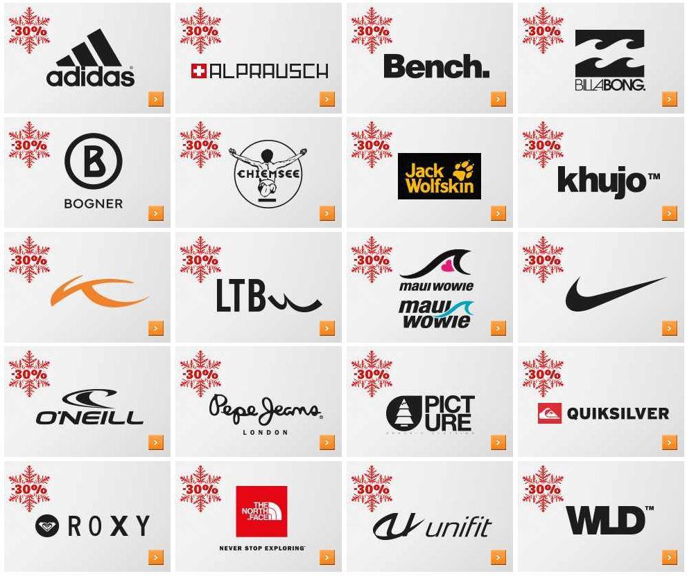 SPORTSCHECK mit 30% im Wintersale auf ausgewählte Top Marken Artikel   Update