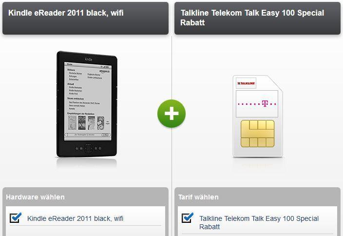 Telekom Talkline Talk Easy 100 Vertrag + Kindle (2011) dank Auszahlung 2,90€ monatl. Kosten   Update