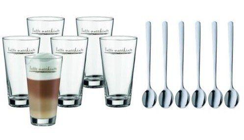 WMF Latte Macchiato Set für 22,95€ (statt 28€)   6 Gläser inkl. 6 Löffel
