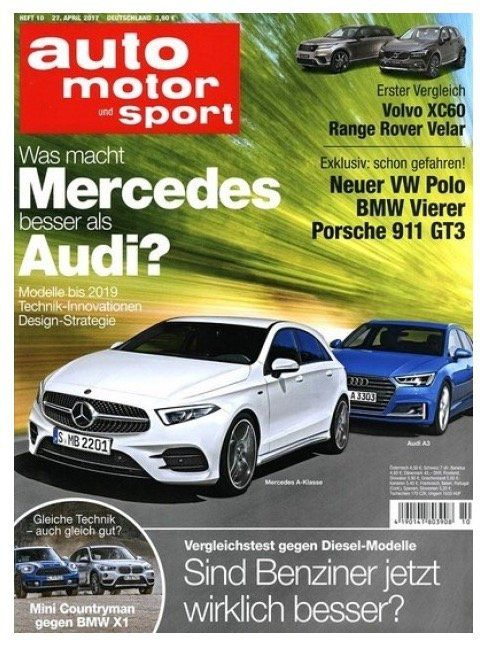 Jahresabo Auto Motor und Sport für 117,60€ + 95€ Verrechnungsscheck