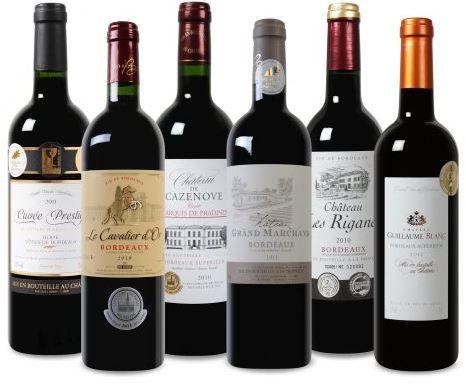 Bordeaux Weinpaket statt 86,44€ für inkl. Versand nur 39,94€