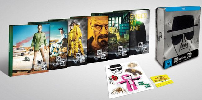 Breaking Bad Tin Box   komplette Serie auf Blu ray + Extra Material für 59,97€