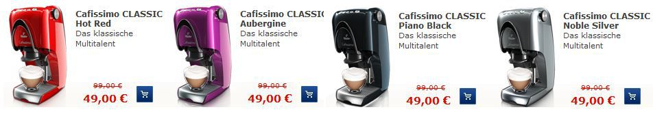 Tchibo Cafissimo Classic oder Compact + Kapseln nur 49€
