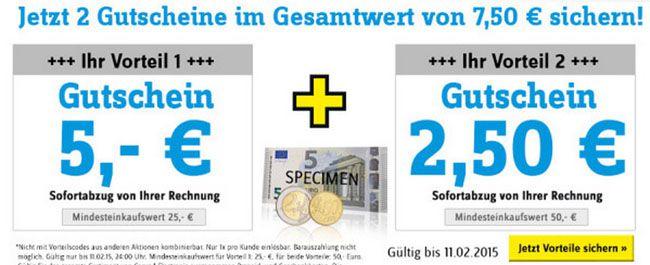Conrad Gutscheine 5€ Gutschein ab 25€ MBW bei Conrad + weitere 2,50€ ab 50€ MBW