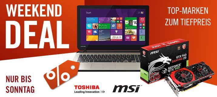 Cyberweekend Toshiba Satellite L50 B 1XZ Notebook i5 4210U SSD HD Windows 8.1 für effektiv 599€