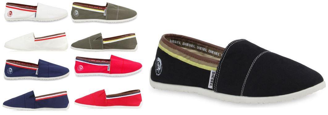 Diesel Schuhe DIESEL   Herren Espadrilles in 5 Farben für je Paar 32,95€