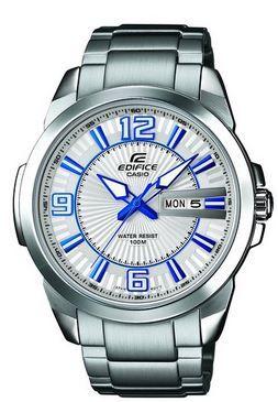 Casio Edifice   analog Quarz Edelstahl Herren XL Armbanduhr für 55,01€