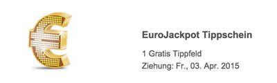 EuroJackpot Gratis Tipp Lottoland: Gratis Tippfeld für EuroJackpot für Neukunden   Jackpot: 36.000.000€   Update