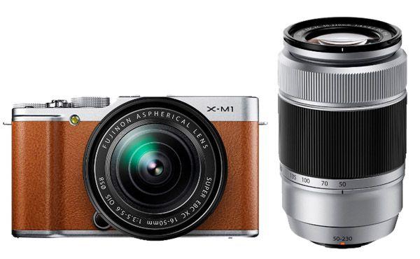 Fujifilm X M1 Kamera + XC 16 50mm und XC 50 230mm Objektiv für 444€