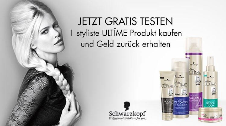 2 Schwarzkopf styliste ULTÎME Produkte jetzt Gratis testen