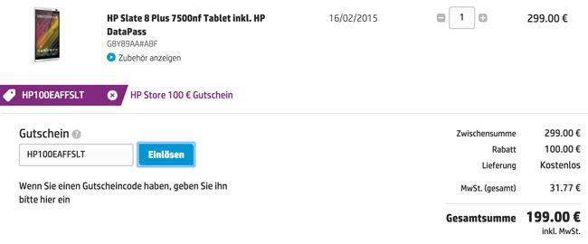 HP Warenkorb