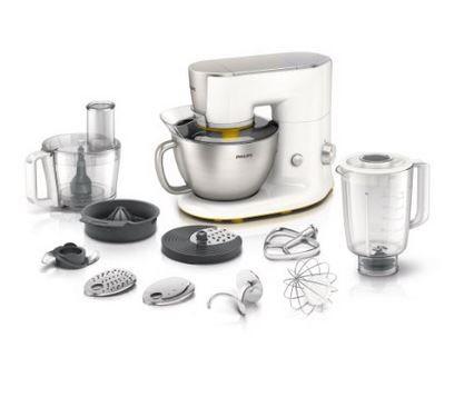 Philips HR7954/00 Küchenmaschine (900 Watt, Rührarm, 4 Liter, Mixbecher) für 199€ (statt 239€)