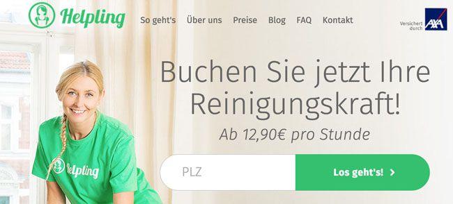 Helpling 20€ Gutschein für Helpling – 2 Stunden Reinigungsservice für 9,80€   Update
