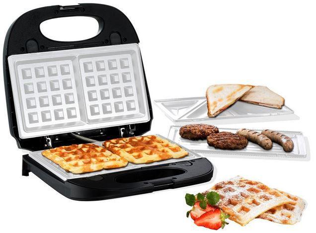 HOBERG Multi Star 3 in 1   Waffeleisen, Sandwichmaker und Kontaktgrill ab 19,99€