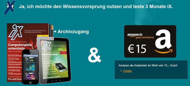 iX mini Abo dank 15€ Amazon Gutschein für effektiv 0,20€