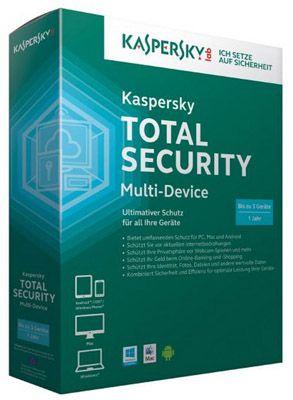 Kaspersky Total Security Kaspersky Total Security Multi Device   3 Geräte 1 Jahr (MiniBox) für 33€