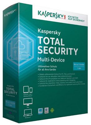 Kaspersky Total Security Multi Device   3 Geräte 1 Jahr (MiniBox) für 33€