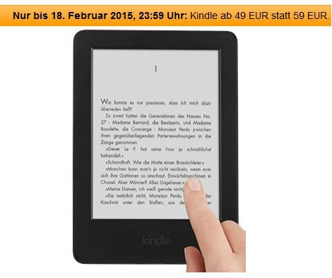 Kindle Kindle Touch 2014   nur heute zum Welttag des Buches:  ab nur 49   Update