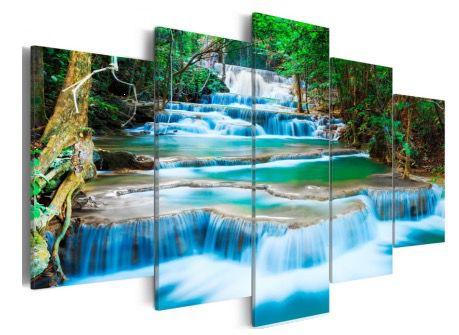 Kunstdrucke von PrestigeArt günstig bei Amazon.de – z.B. 200 x 100cm Wasserfall für 25€