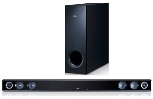LG NB300 2.1 Soundbar mit wireless Subwoofer (300 Watt, Bluetooth, USB) für 99,90€